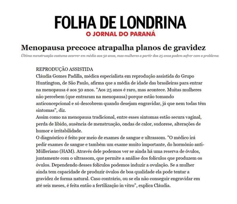 Matéria Dra. Claudia